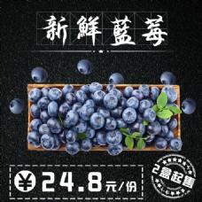 新鲜蓝莓电商促销