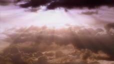 夕阳天空光线视频