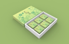 月饼盒-清香秋韵(黄绿)