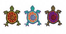 小乌龟卡通矢量素材
