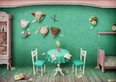 桌上的蛋糕图片