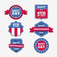 美国独立日装饰贴纸图标