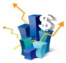 蓝色卡通矢量企业商业商务ppt元素素材