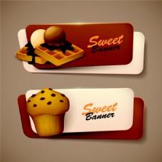 华夫饼蛋糕标签图片