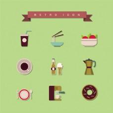 卡通食物元素设计素材
