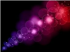 抽象紫色圆点光效背景