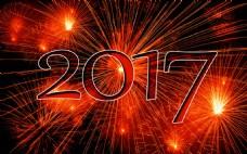 2017新年礼花背景图片