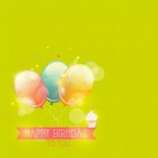 气球绿色背景素材