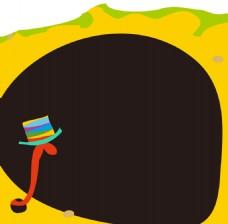 卡通彩色帽子背景