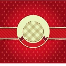 白色圆形标签红底背景