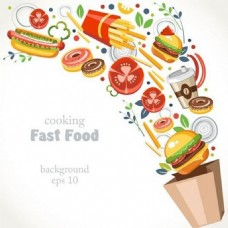 快餐食物背景素材