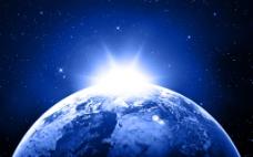 蓝色大气地球背景