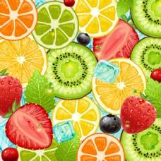 夏季水果清凉背景