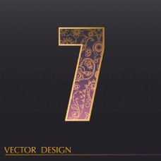 数字7装饰图案背景