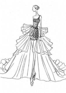 时尚紧身礼服设计图