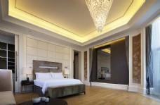 中式别墅卧室装修效果图