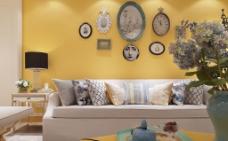 时尚客厅沙发背景墙设计图