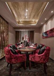 中式简约餐厅装修效果图