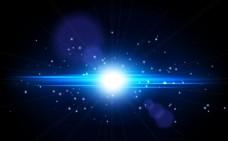 蓝色闪亮光效背景矢量