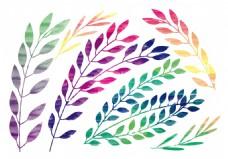 水彩手绘叶子