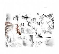 水墨中国风经典元素设计