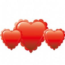 红色爱心PSD素材