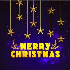 金色圣诞节精美卡通矢量海报素材文件