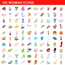 女性用品按钮图标图片