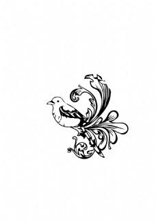 鸟线条形状