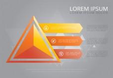 立体三角图表设计