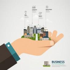 商务信息图创意设计图