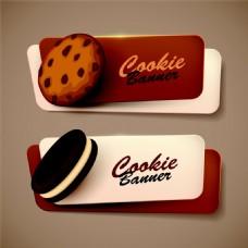 饼干美食标签图片