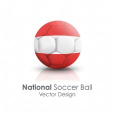 奥地利国旗足球贴图矢量素材