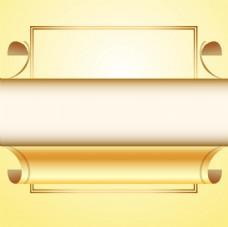 金色卷角纸张背景