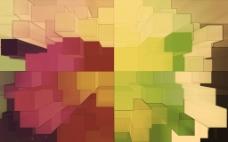 立体彩色几何背景