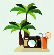 椰子树背景素材