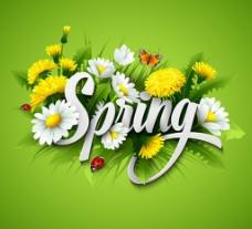 春天花朵背景素材