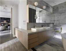 现代简约卫生间洗手台设计图