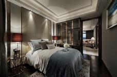 新中式简约卧室装修效果图