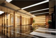 企业大厅3D装饰模型设计