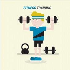 男性健身减肥健美海报