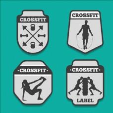 健身房健美减肥LOGO标志