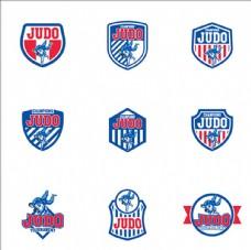 柔道比赛培训俱乐部标志