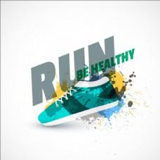 绿色运动鞋插图