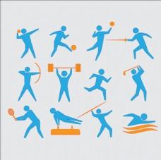 平面运动会比赛项目标识