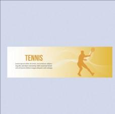 网球比赛培训俱乐部横幅