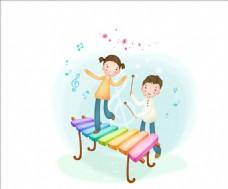 淡彩儿童插画