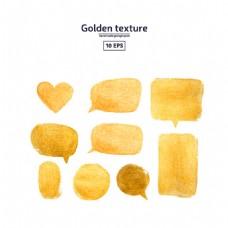金色笔触图片