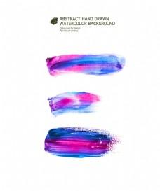 紫蓝笔触图片