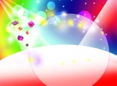 淘宝天猫商品彩色聚焦光线展示广告背景